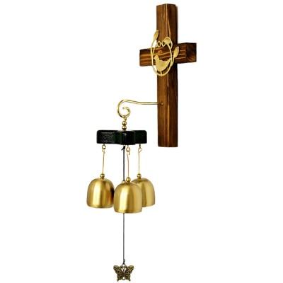 Христианские подарки высококлассные украшения для дома крестообразные украшения из чистой меди ручной работы крест колокольчики - Цвет: Светло-серый