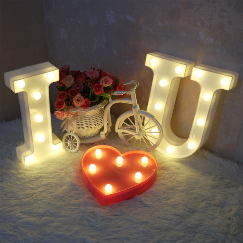 Led Night Lights Romantic Ins Romantic L-o-v-e Led Letter Light Nordic Decorative Lights For Home Bar Party Wedding Decoration Hot Sale Holiday Lights With The Most Up-To-Date Equipment And Techniques