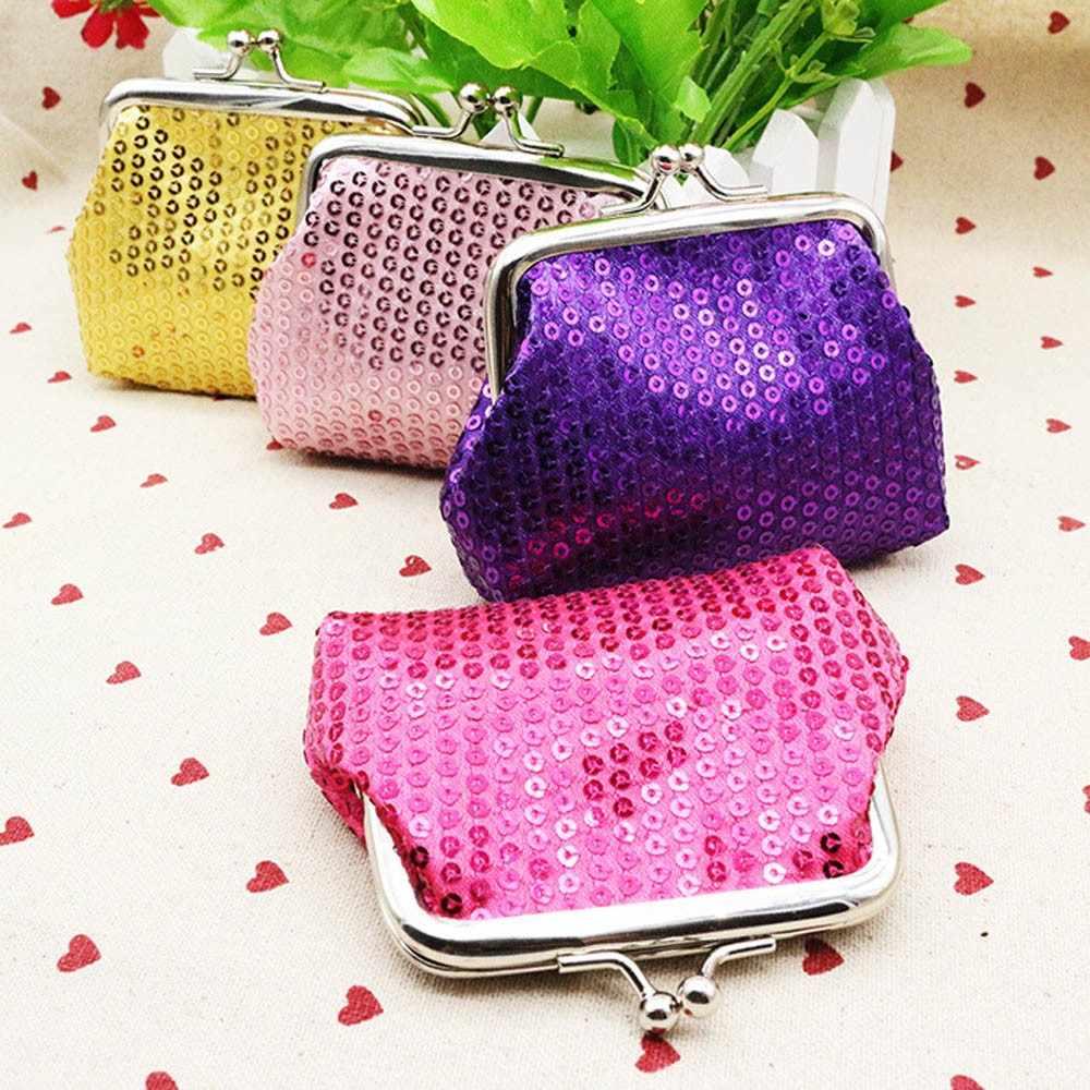 Fashion Hot Womens Solid color sequins Purse Wallet Bag Change Pouch Key  Holder Change Purse Money 1b12638bb0b5
