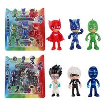 3PCS/Lot PJ Figure Pjmasks Hero Doll Catboy Owlette Gekko Lunar Remeo Juguete Brinquedo PJ Figure Dolls Sets For Kids Gift Toys