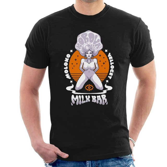 9123d9eb Summer fashion T-Shirt A Clockwork Orange Korova Milk Bar Men's T-Shirt