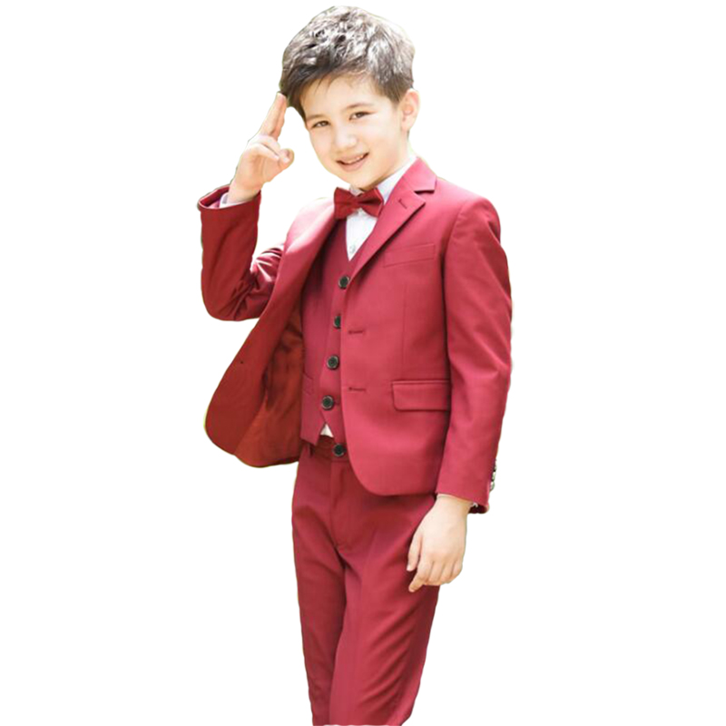 Boys Suits For Wedding Clothing Set (Jacket pant Tie )Kids Prom Party Clothes For Children Boy Classic Formal Costume Dresses boys clothes set boys striped vest pant shirt suits formal outfits kids school uniform children clothing wedding party clothes