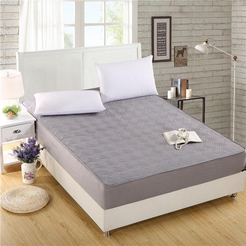 Comwarm minimalisme couleur unie housse de matelas chambre lit protecteur Pad Polyester Fiber Anti-sale surmatelas drap housse
