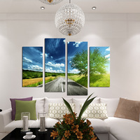 FOUR PC NO FRAME On The Way Oil Painting Printed Oil Painting On Canvas Oil Painting