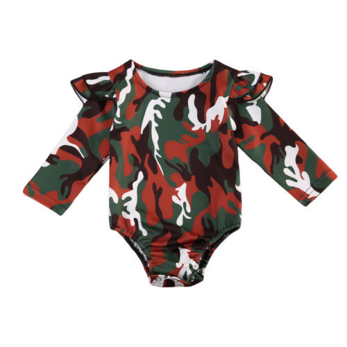 257a2b74e981 Baby Boy Long Sleeve Cotton Army Green Jumpsuit Bodysuit Clothes ...