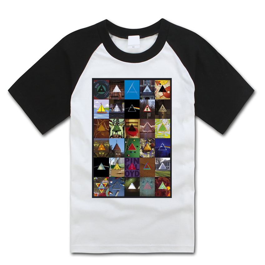 all kinds of daily photos collage same as dark side of the moon pink floyd rock fashion t shirt