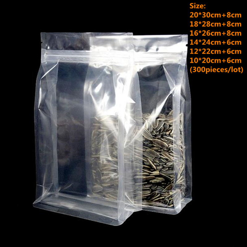 Wholesale ! Food Moisture-proof Bags, Transparent Bags Stand Up Pouch Ziplock Packaging for Beverage Coffee Snack Cookie Baking