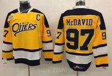 ade99ea6c Ediwallen Erie Otters College 97 Connor McDavid Jersey Men Vintage Edmonton  Premier OHL With COA Ice Hockey Black Yellow