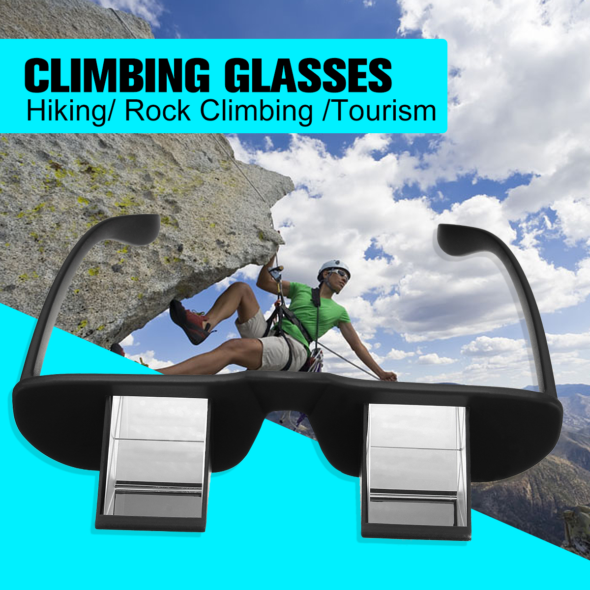 Outdoor Climbing glasses Lazy Horizontal Prisma Refractivas Goggles Spectacles mountaineering glasses camping hiking eyewear itaoe model 404 high quality acetate men optical prescription glasses eyewear frames spectacles 141mm