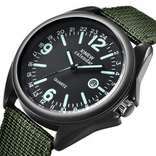 Luxury Men Military Army Bomber Pilot Canvas Strap Sports Men Boy Wrist Watch Me