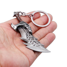 God Of War Kratos Alloy Weapon Keychain Blades Of Chaos Keyring Pendant Men Women Jewelry keychains Game Peripheral Accessories game god of war keychain olympus kratos metal key rings blades of chaos kids gift chaveiro key chain jewelry ys10927