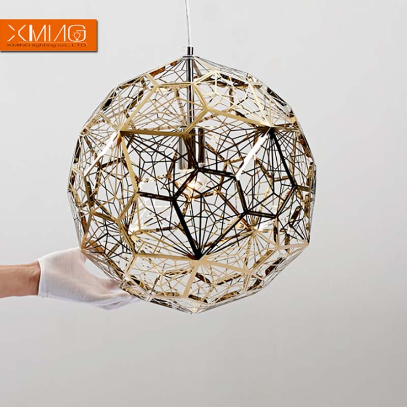 Metal Ball Lamp Shade: Modern Pendant Lights Stainless Steel Ball Lamp Shade With