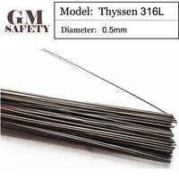 Gmレーザー溶接ワイヤはんだティッセン316lの0.5ミリメートル用溶接製ドイツ200ピースで1チューブl0405