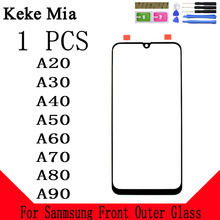 Keke Mia Front Outer Glass For Samsung Galaxy A10 A20 A30 A40 A50 A60 A70 A80 A90 Touch Screen Panel Lens Replacement