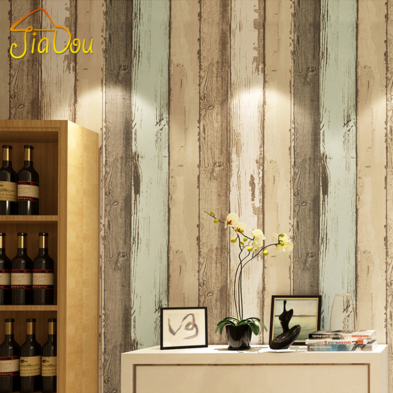 Modern Vintage Wood Pattern Striped Non-woven Fiber Wallpaper Roll For 3D Living room Bedroom Photo Wall Paper Home Decoration junran america style vintage nostalgic wood grain photo pictures wallpaper in special words digit wallpaper for living room