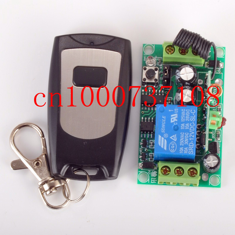 12V 1ch Learning Code Wireless Remote Control Light Switch System applicance garage door