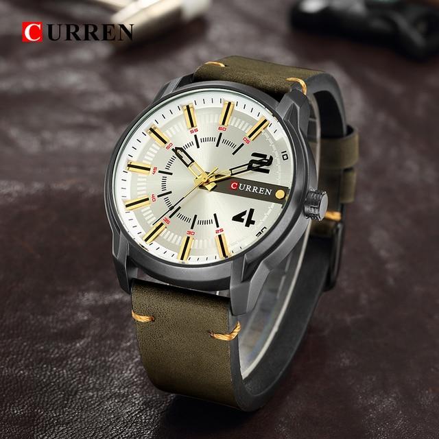 CURREN Men's Luxury Military Male Quartz Watches 2