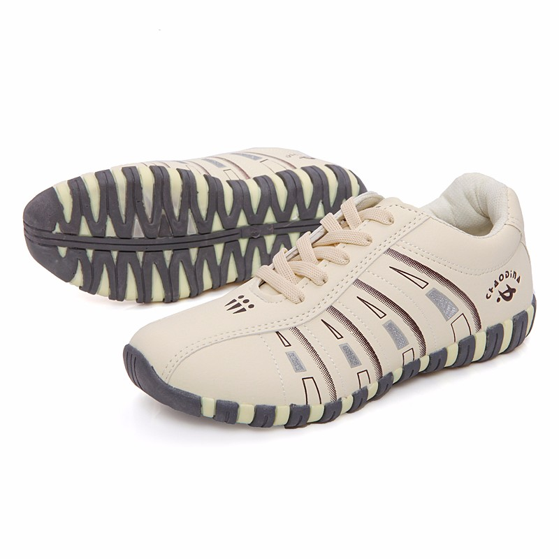 KUYUPP Fashion Breathable Leather Women Casual Shoes Lace Up Woman Trainers Outdoor Women Low Toe Shoes Zapatillas Mujer YD122 (22)