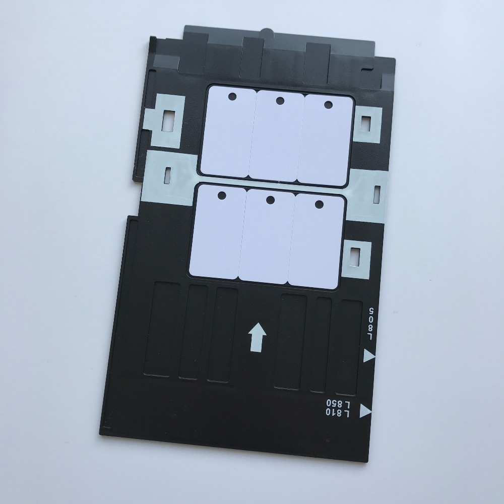 200pcs Blank Plastic Hotel Key Inkjet 3up Pvc Card 1pc Id Card Tray For Epson Inkjet Printers L850,a50,t50,t60,p50,r260,r265 Office & School Supplies Business Cards