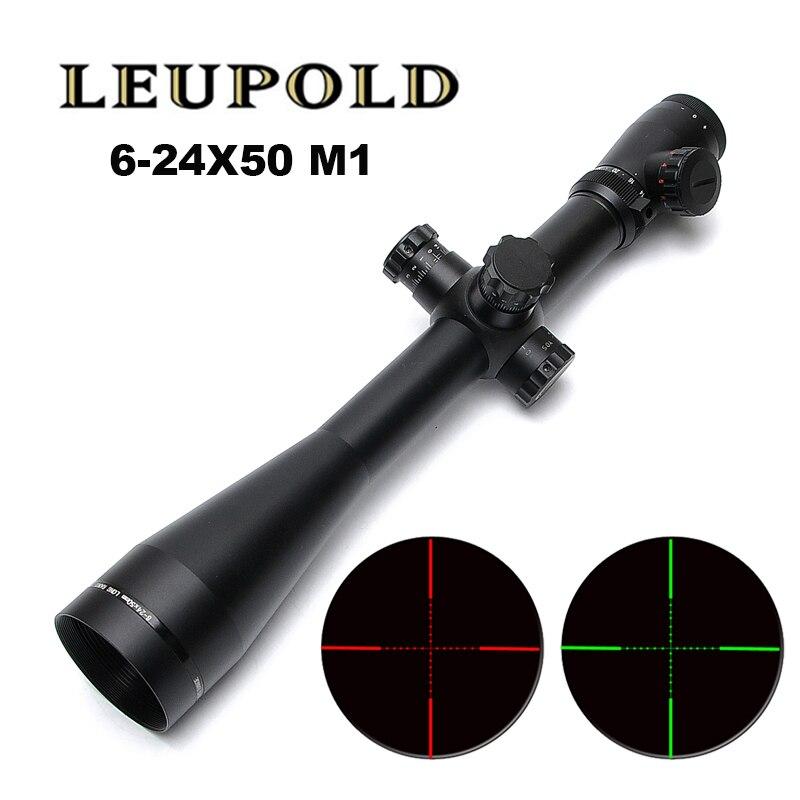 LEUPOLD MARK 4 M1 6-24X50 Optik Zielfernrohr Mil Dot Beleuchtet Seite Rad Spektive Jagd Scopes Für Scharfschützengewehr