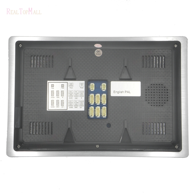 7 TFT 1200TVL Door Monitor Video Intercom Home Door Phone Recorder System SD/TF Card Supported Waterproof Rain Cover 1 v 3