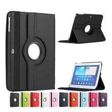 Para Samsung Galaxy Tab 4 10.1 T530case T531case T535case Tablet PU Funda de Piel Cubierta Giratoria