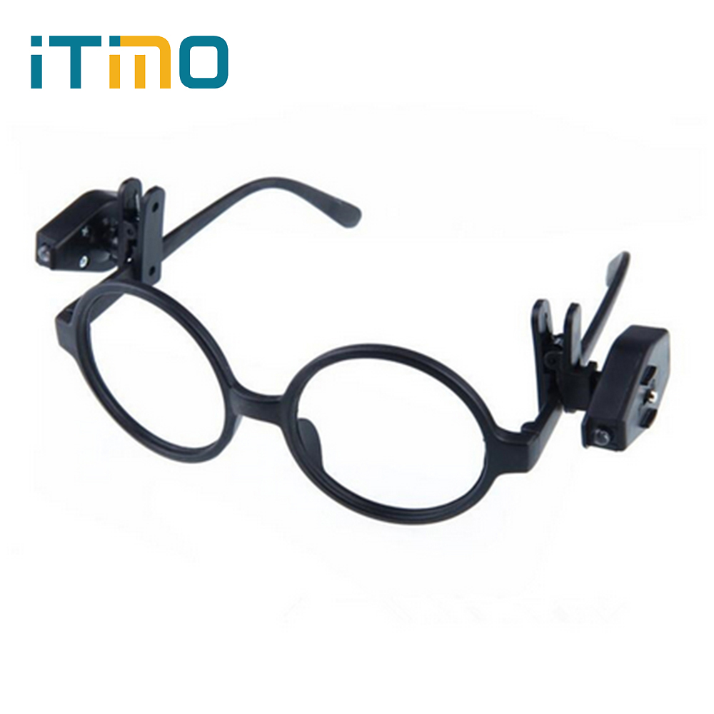 Flexible LED Eyeglass Clip On Adjustable Book Light For Eyeglass and Tools Portable Universal Mini Night Book Reading Lights
