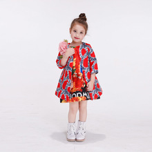 new design girls Flowers printing coat kid Outwear For Spring Autumn Children Clothing