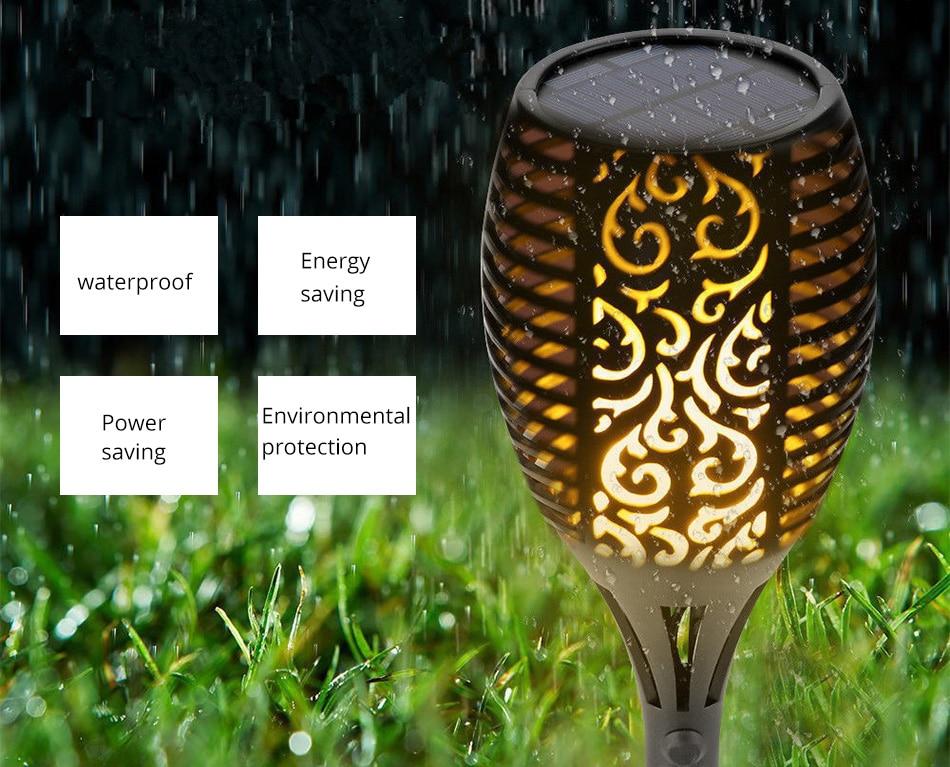LED Flame Lamp Solar Waterproof Lawn Light Dancing Flickering Torch Lights Garden Outdoor Landscape Decorative Path Lighting (6)