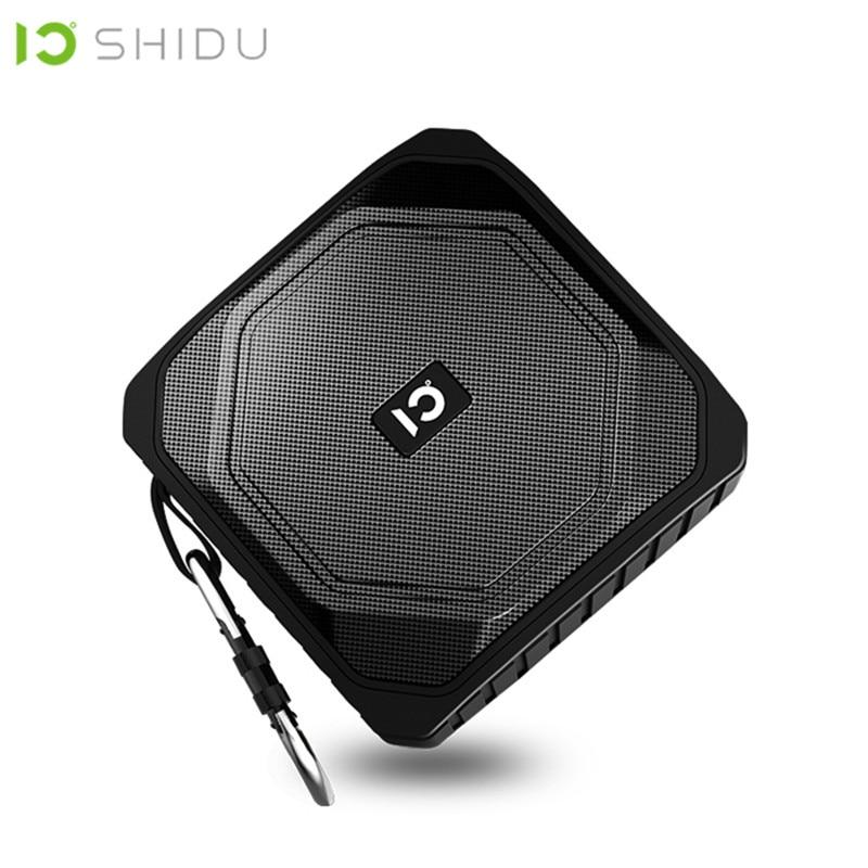 SHIDU P3 IPX5 Ao Ar Livre À Prova D' Água Wireless Speaker Portátil Bluetooth 4.2 Stereo Surround Subwoofer Falante de Graves AUX Com MICROFONE