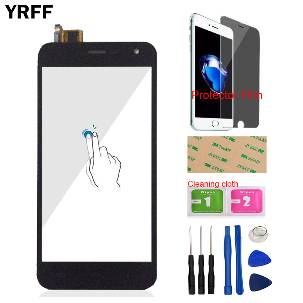 YRFF 5.0'' Phone Mobile For Homtom HT3 / HT3 Pro Touch Screen Touch Digitizer Panel Front Glass Free Protector Film Adhesive