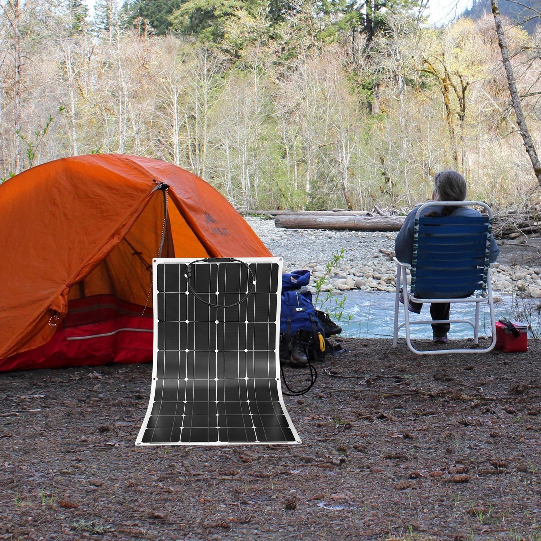 Dokio 12V 100W 1/2/3/4/6/8/10 pièces panneau solaire Flexible monocristallin 300W panneau solaire pour voiture/bateau/maison/RV 32 cellules 200W 1000W