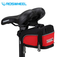 ROSWHEEL Bicycle Saddle Bag Outdoor Cycling Mountain Bike Bags Bike Repair Tools Pack Pocket For Biking Riding Cycling Red