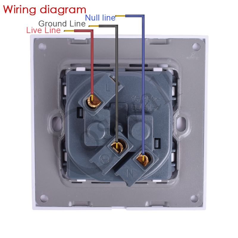 [SCHEMATICS_4PO]  Coswall Crystal Glass Panel Wall Power Socket Grounded 16A French Standard  Electrical Outlet Black White Gold Grey Colorful|Electrical Sockets| -  AliExpress | Wiring Diagram For French Phone Socket |  | www.aliexpress.com