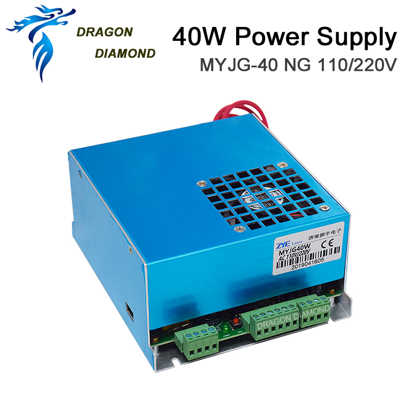 K40 Series: 40W CO2 Laser Power Supply MYJG 40WT 110V/220V For Laser Tube Engraving Cutting Machine Model A