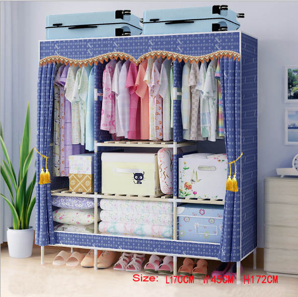 Factory Price Solid Wood Wardrobe Clothes Wardrobe length 150 cm|Wardrobes|Furniture - title=