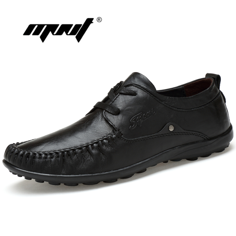 Handmade genuine leather men flats shoes,Soft leather men loafers shoes,Plus size leather shoes men driving shoes