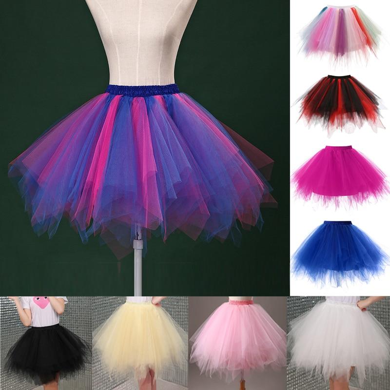 Tylové sukně Dámské vysoce kvalitní elastické roztažené tyly Teen Layers letní Dámské dospělé Tutu sukně plisované mini sukni Hot sale