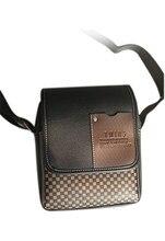 5pcs( ASDS Black Men's Faux Leather Messenger Shoulder Bag