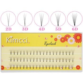Kimcci Lashes 3Lines 2D/3D/4D/5D/6D Heat Bonded Pre Made Volume Fans Faux Mink Premade Russian Volume Eyelash Extension Supplies