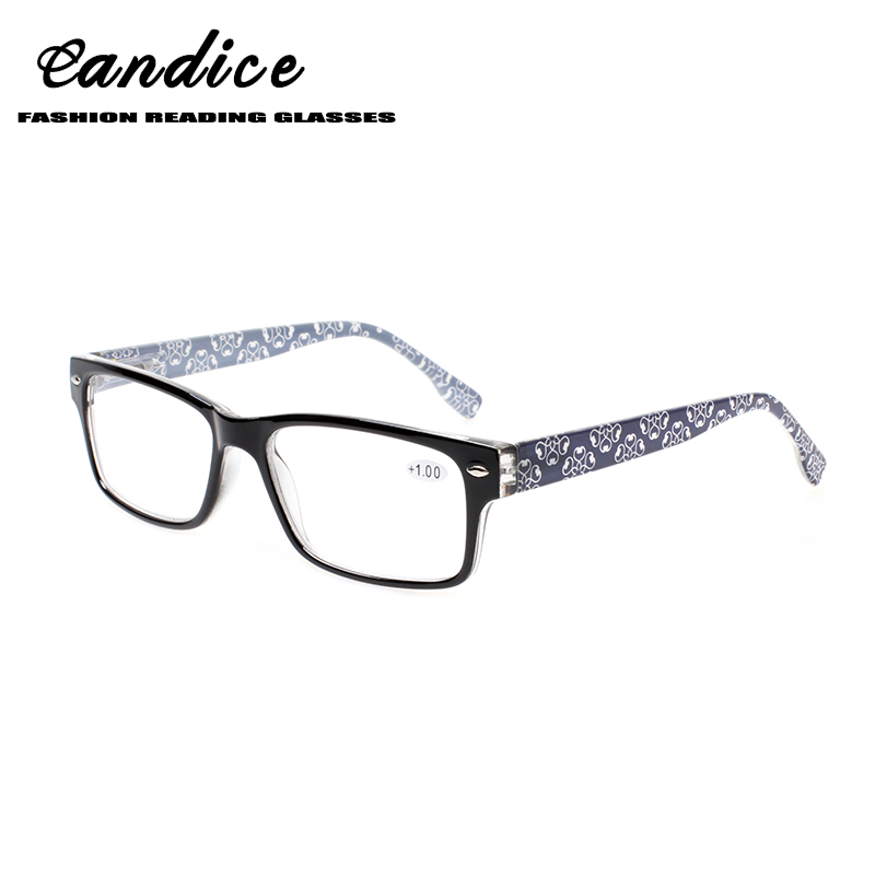 0250f9707440 Henotin men and women fashion reading glasses exquisite pattern spring  hinge design oval frame reading glasses