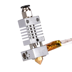 3D V6 All Metal j-head Hotend Kit do CR10/CR-10/CR-10S wytłaczarki wytłaczarki bowden 1.75/0.4MM dysza do części drukarki 3D grzałka
