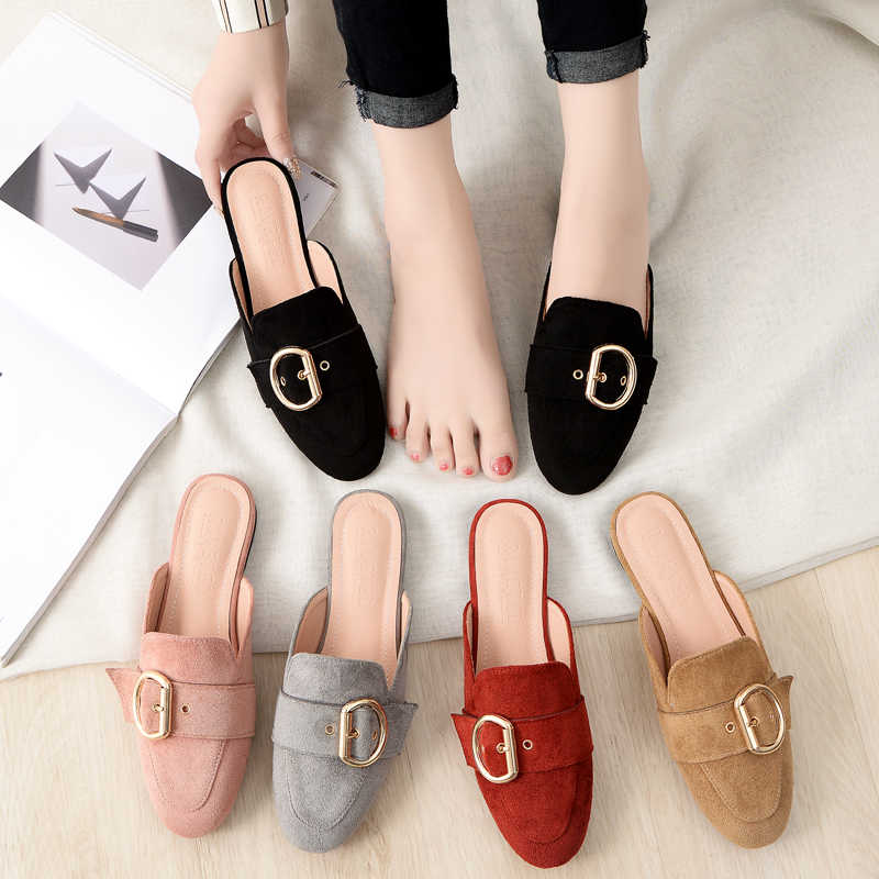 Brand Mules Slippers Woman Suede