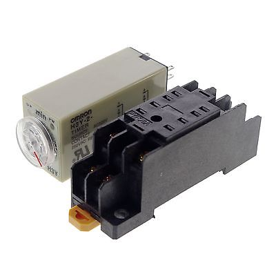 220VAC H3Y-2 Power On Time Delay Relay Solid-State Timer max 30Min DPDT Socket hhs6a correct time countdown intelligence number show time relay bring power failure memory ac220v