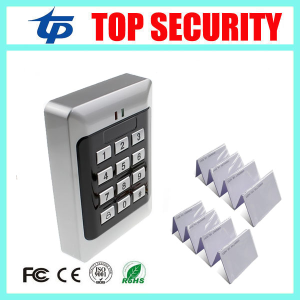 Black color free shipping good quality RFID card and password access control system 125KHZ RFID EM card door control reader 5pcs lot free shipping outdoor 125khz em id weigand 26 proximity access control rfid card reader with two led lights