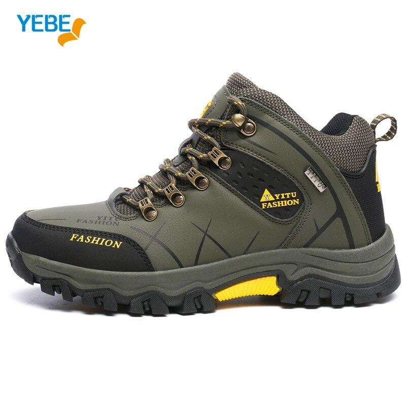 YEBE Men Hiking Shoes Outdoor Sport Winter Warm Tactical Shoe Waterproof Sneaker Climbing hunting Boots Mountain Trekking hombre size 36 44 men women hiking shoes sport waterproof leather outdoor shoes mountain climbing boots shoes botas zapatos hombre hw65