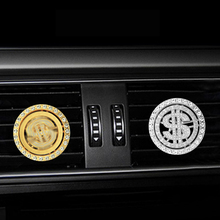 Inlay Water drill $ shape car Air conditioning outlet perfume car perfume car interior accessories car fragrance car air conditioning outlet perfume folder oil box outlet essential oil diffuser space shape