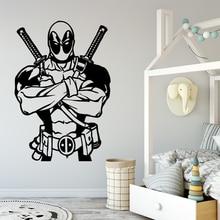 New Design deadpool Wall Sticker Pvc Removable For Kids Rooms Decoration Waterproof Art Decal naklejki na sciane