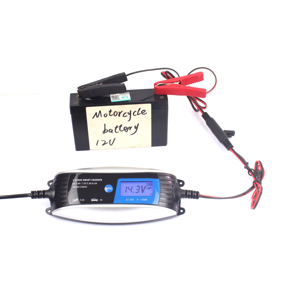 180-260V To 12V 0.8A/4A 6V 0.8A  Full Automatic Car Battery Charger LCD Intelligent Charging For Car Motorcycle