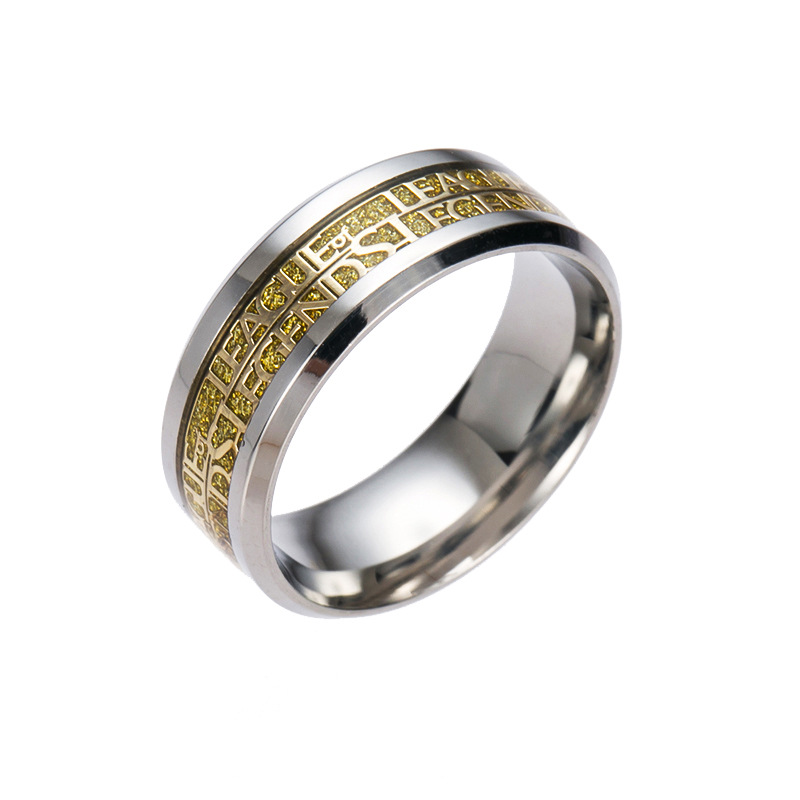 vintage design stainless steel women accessories hot game legend of league ring men novelty cartoon rings gifts